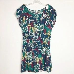 Maeve Anthropologie Floral Abstract Printed Dress